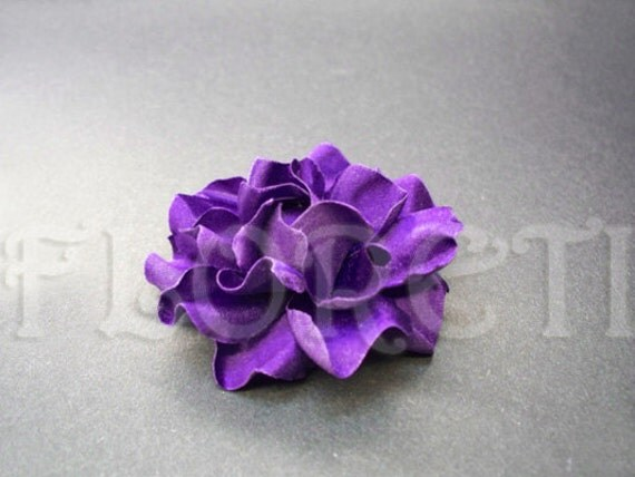 Cool Plum Gardenia Small Bridal Hair Clip French Silk by Floretii from etsy.com