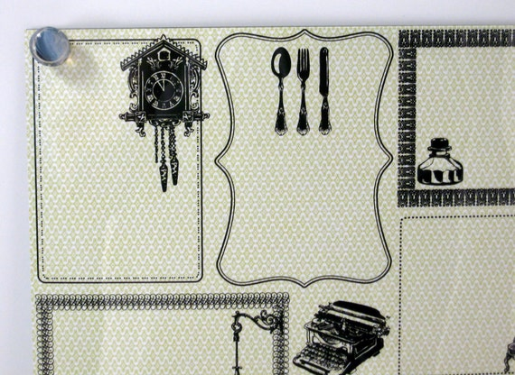 Vintage Home Style .. Steel Memo/Magnet/Dry Erase Board