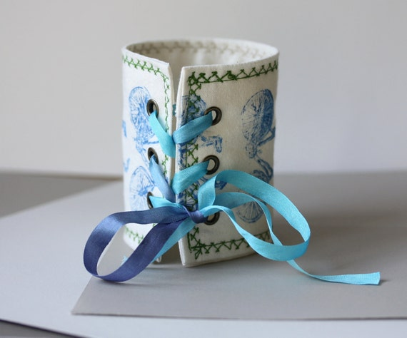Bicycles fabric cuff in blue - tribute to the Tour de France