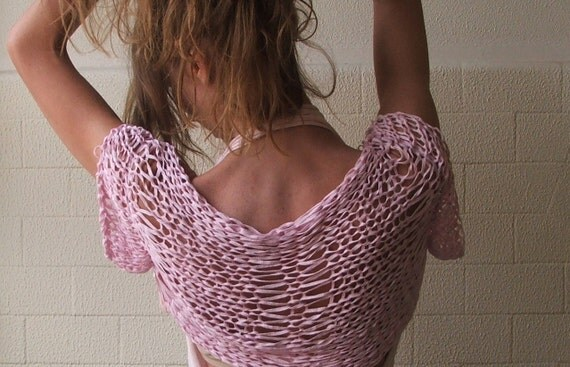 Pink short sleeved Bamboo shrug