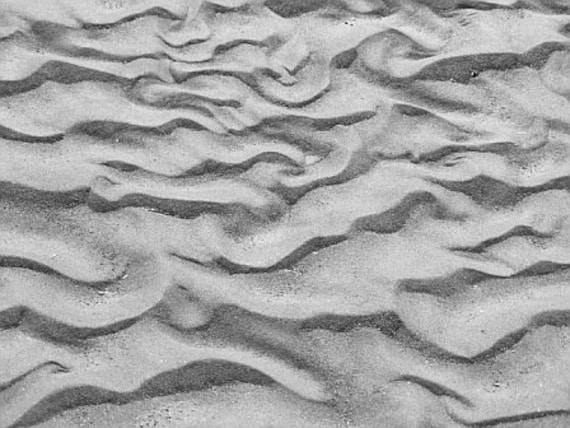 Sand Patterns - 8x10 Black and White Fine Art Photograph