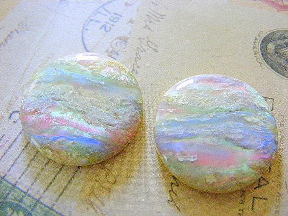 Vintage  SUNSET Round Cabochons  29MM
