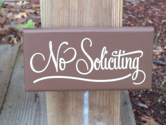 Whimsical Welcome Sign - No Soliciting Wood Vinyl Yard Garden Stake Sign