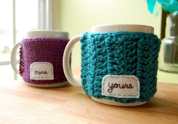 Mine & Yours Mug Cozies - Couples Gift