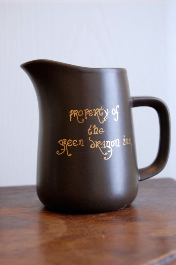 Property of the Green Dragon Inn Brown Pitcher