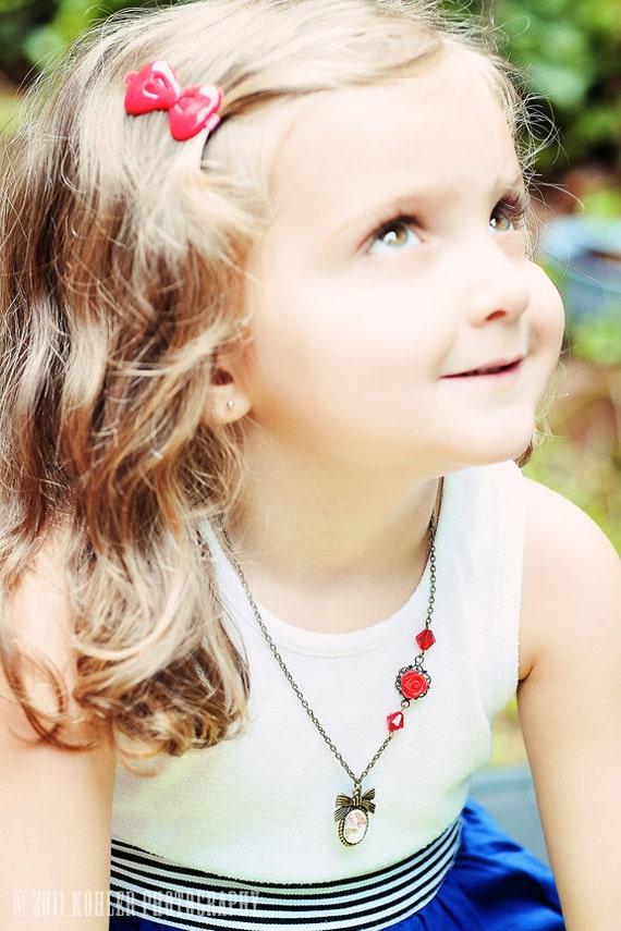 Custom Child Necklace Vintage Inspired