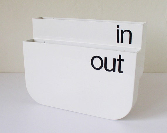 In and out file box, office supplies