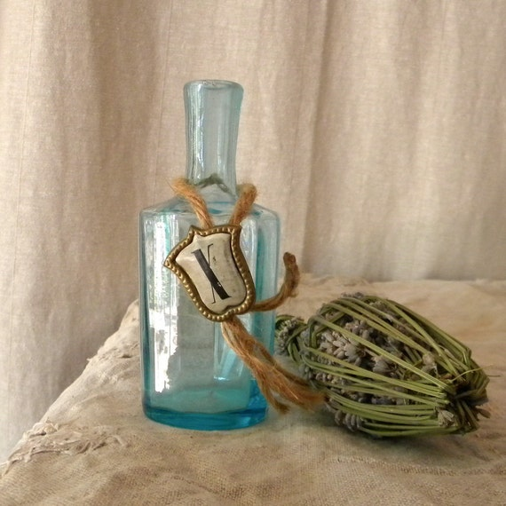 Vintage bottle, Reclaimed French country décor