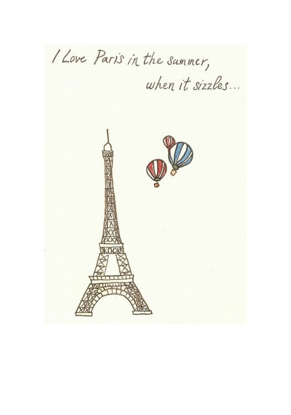 Eiffel Tower Hot Air Balloons PRINT