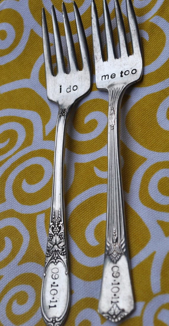 I do. Me too. Vintage Wedding Cake Fork Set Personalized with Wedding Date