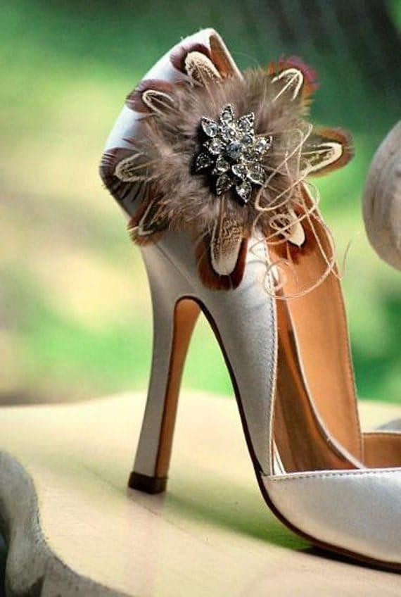 Вкус спермы клипы обуви ручной работы Couture Rhinestone Люкс для невесты невеста осень Осенняя мода Элегантный стильный будуар Бронзовый Медь Золотой