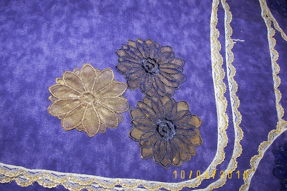Handmade Purple Scarfs for Home or Events