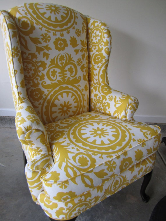 Winged Back Chair - Summer Breeze
