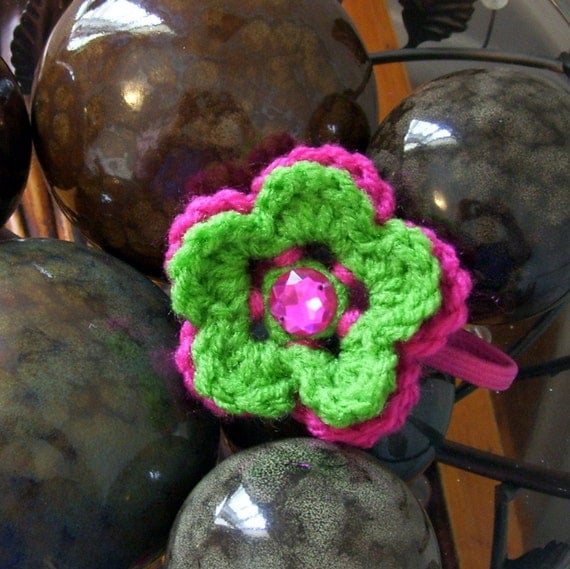 Double Layer Flower Ponytail Holder