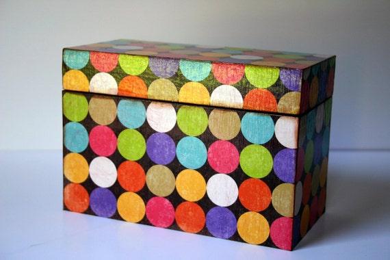 Confetti Recipe Box--Trinket/Keepsake/Storage
