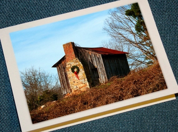 Farm Cabin Christmas Cards - Set of 12