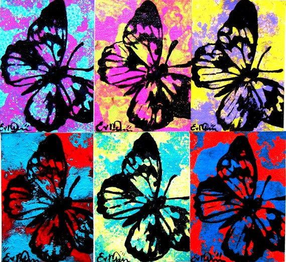ACEO Butterfly Original & One of a Kind  'Misty Butterfly'  No. 9 in the Butterfly Art Card Series