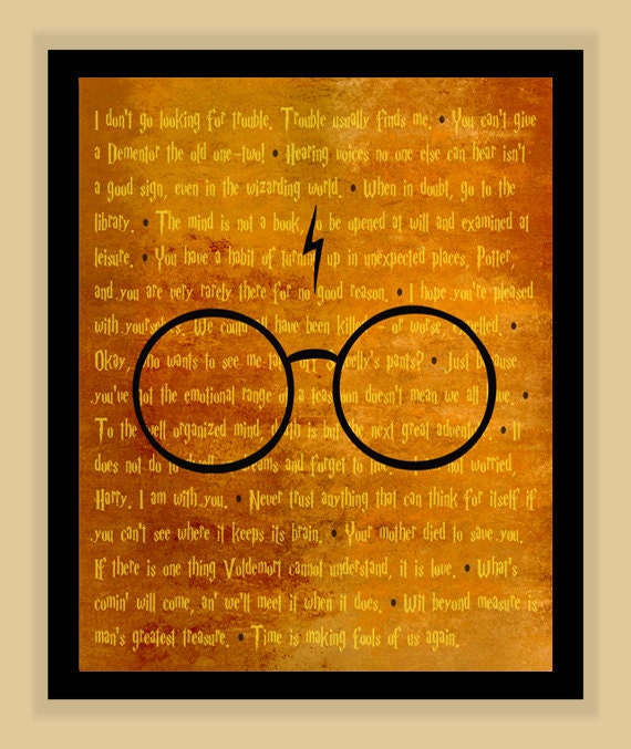 8x10 Harry Potter best of QUOTES Poster art print pop