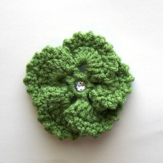 Tea Leaf Pansy Clip