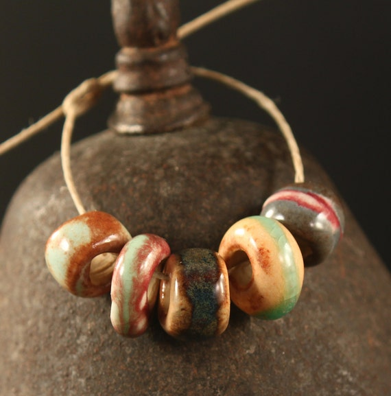 Sampler Set large hole ceramic beads (5)