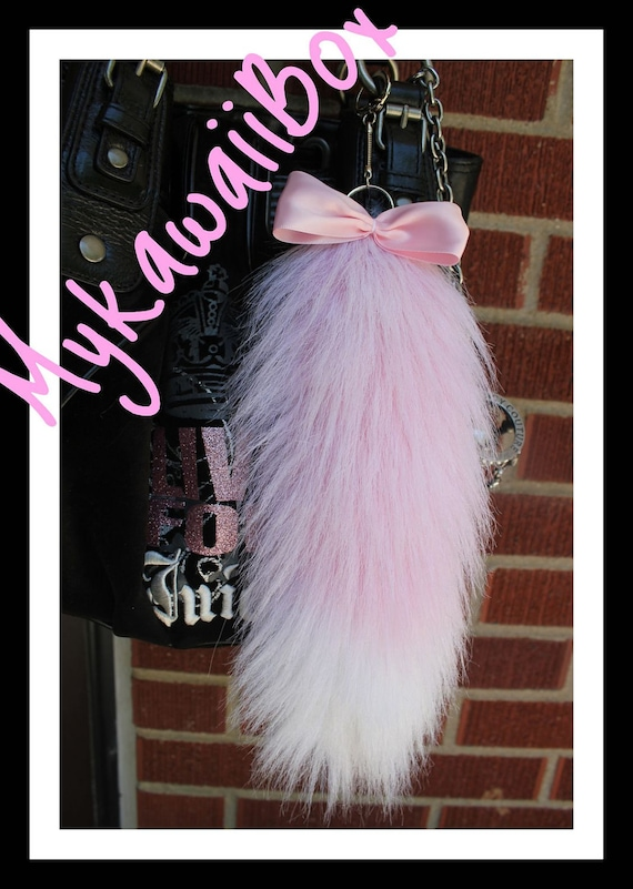 Hime Gyaru fox Tail Pink White