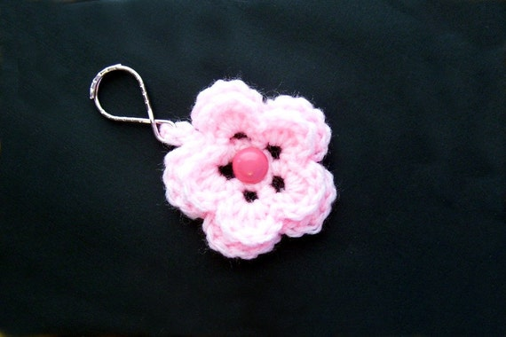 Light Pink Flower Keychain