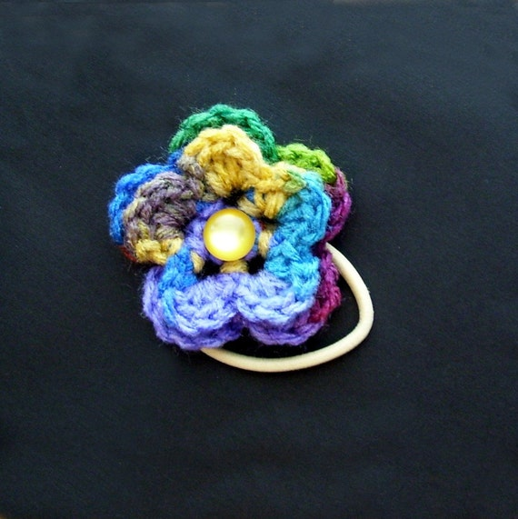 Pretty Flower Ponytail Holder