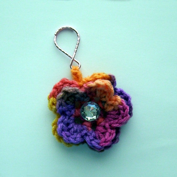 Melonberry Flower Keychain