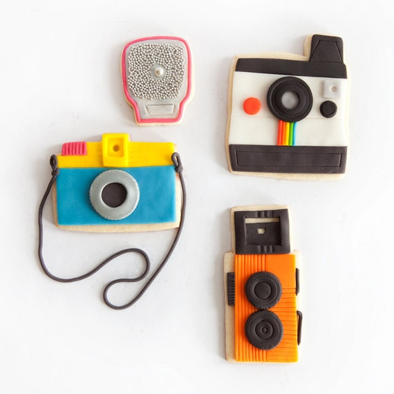 camera cookie gift box (9 camera cookies plus 3 flash cookies)