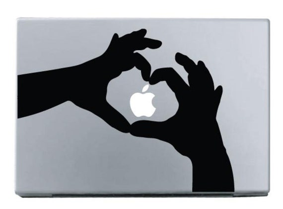 The Heart Shaped Hands MacBook Apple Mac Decal Sticker Vinyl