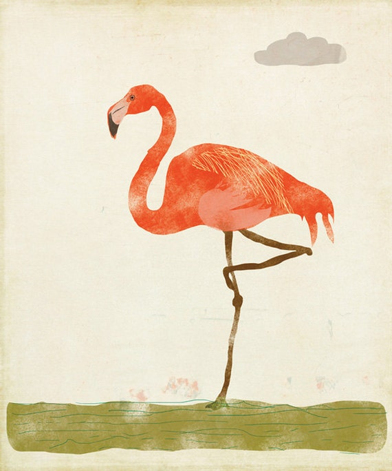 Pink Flamingo Limited Edition Large Print