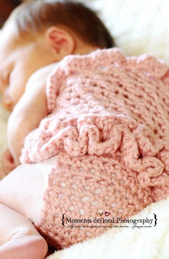 Фотография Prop Петти Romper - вязание крючком - Новорожденный - органического хлопка-Потертый Chic