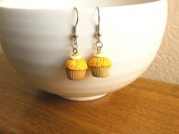 Chestnut Cupcake   Earrings by SouZouCreations on Etsy from etsy.com