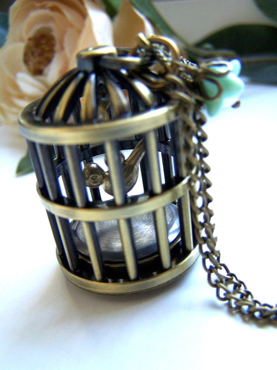 the birdcage pocket watch (necklace).