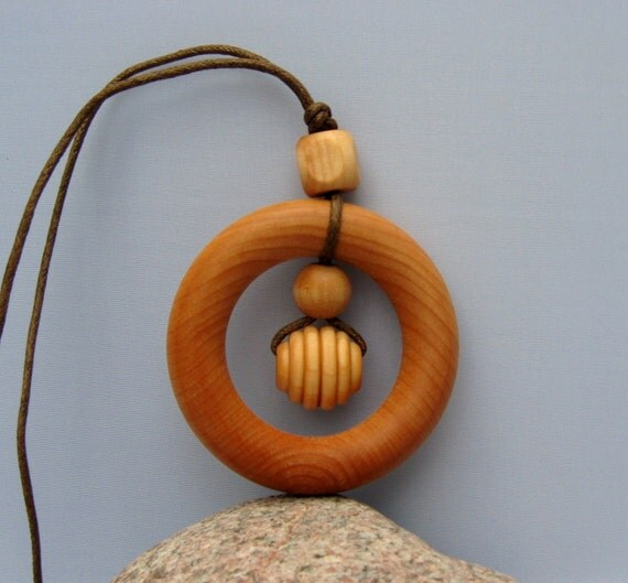 NEW ITEM: Happy Baby All Wood Teething Ring, Nursing Necklace