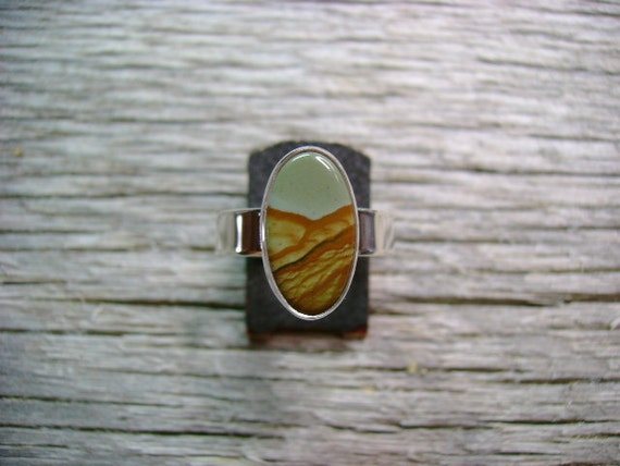Cripple Creek Picture Jasper Ring - Size 7.25