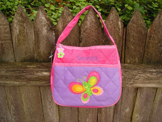 Personalized Stephen Joseph Quilted Purse Butterfly by Never Felt Better