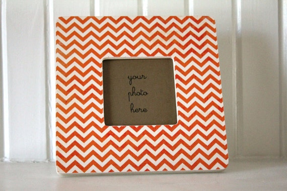 Orange Chevron Frame