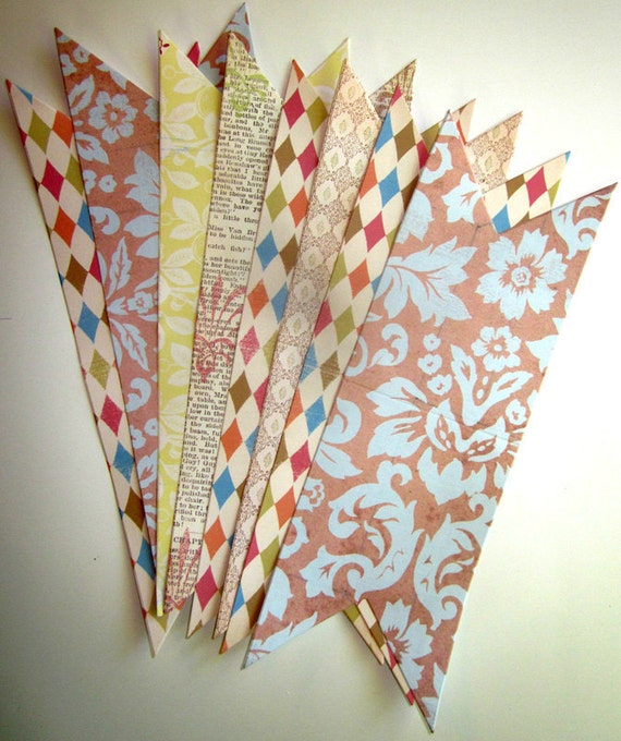 Whimsy Pennant Banner Pieces