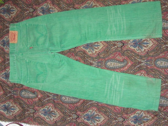 Apple Green Levi 506 Jeans  - W30 L34, hand dyed
