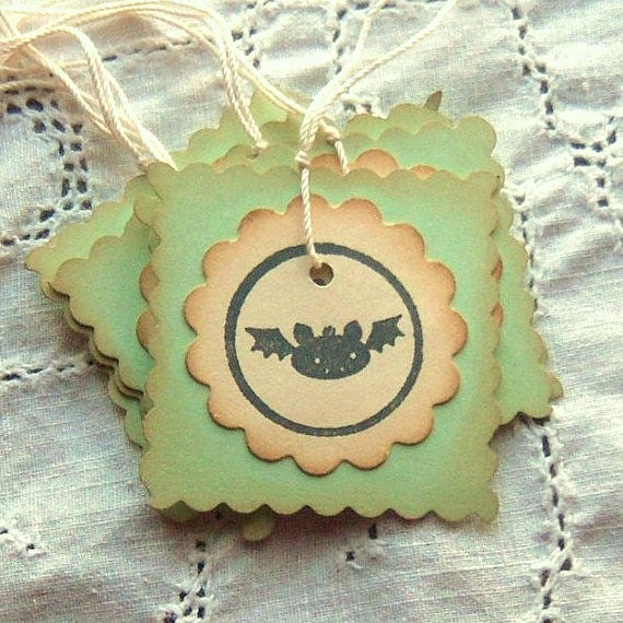 Batty Hang Tags - Vintage Inspired