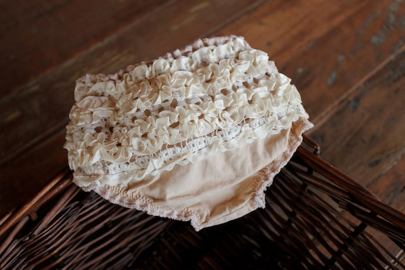 Vintage Tea Stained Lace Bloomer
