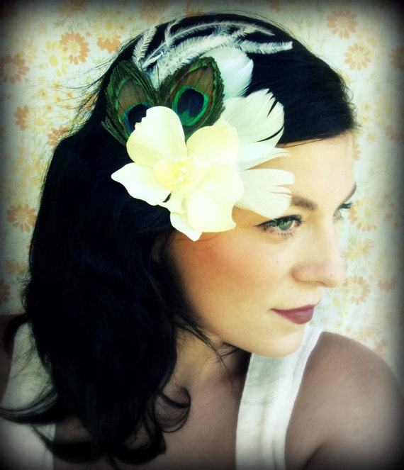 Peacock Bridal Fascinator -Eyes of Love