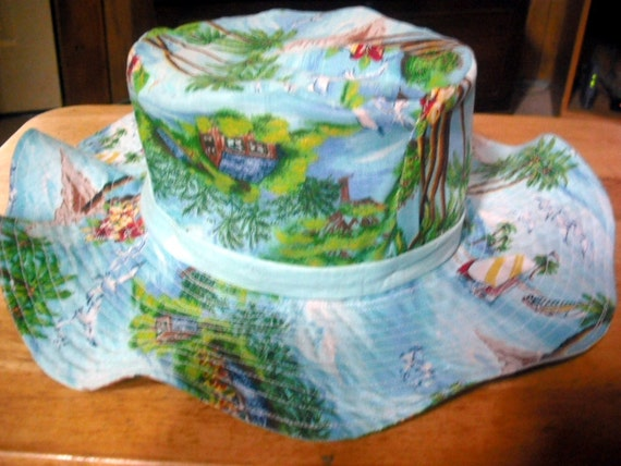 Island Paradise Floppy  Sun Hat