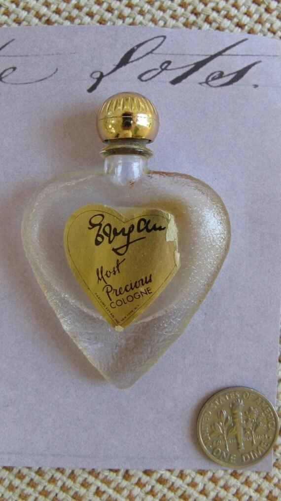 Vintage Heart Shape Miniature Perfume Bottle
