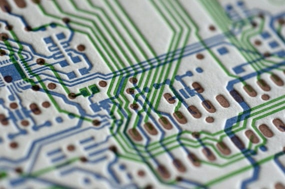 Card-uino Circuit Board - Letterpress Flat Card
