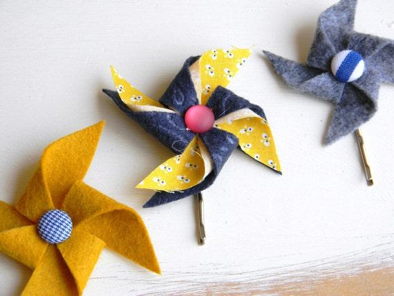 Handmade Pinwheel Bobby Set - Prep School
