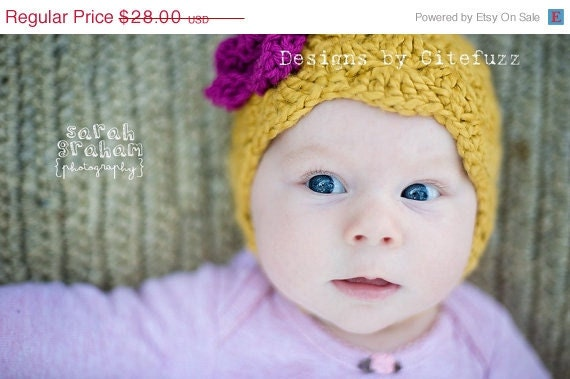 ON SALE NEW 3 to 6 m soft Organic Cotton Flapper Trendy Baby Hat Mustard and Plum gorgeous Photo Prop Citefuzz