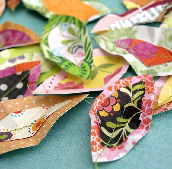 Pile of Leaves - paper leaf accents