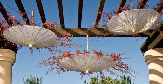 Wedding Parasols Upside Down Hanging Floral or Fall Leaves